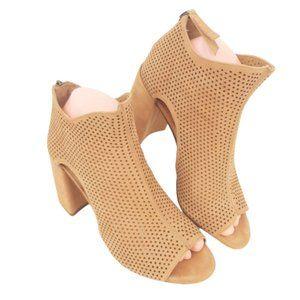 Gianni Bini Perforated Chunky Heel Bootie …